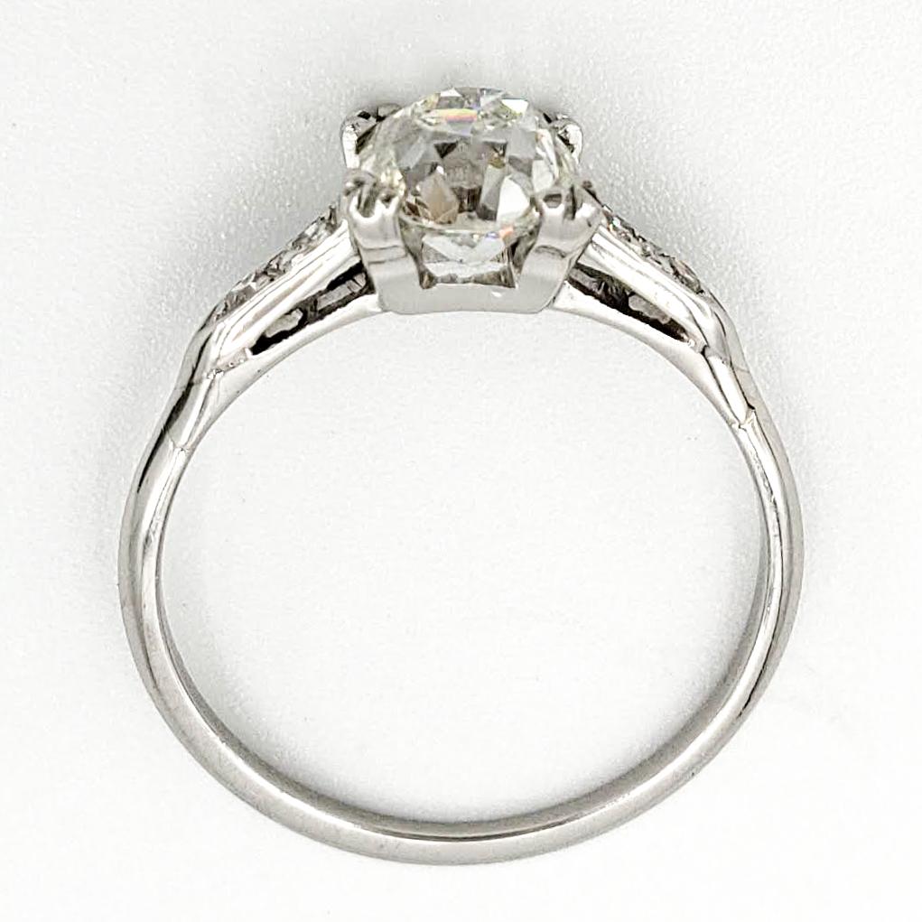 vintage-platinum-engagement-ring-with-1-19-old-mine-cut-diamond-egl-h-vs2