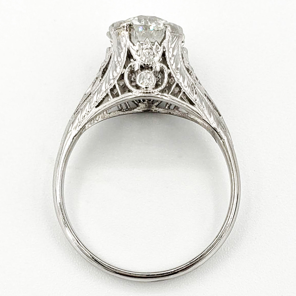 vintage-platinum-engagement-ring-with-1-94-carat-old-european-cut-diamond-egl-h-vs2