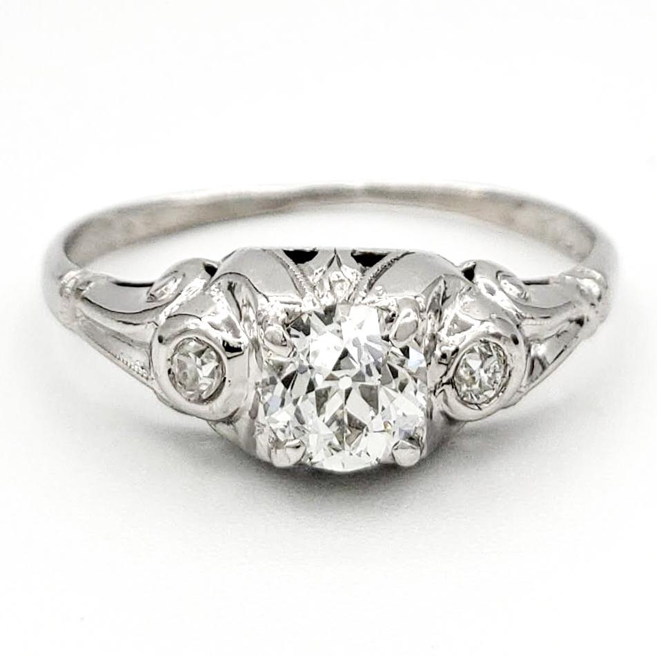 vintage-platinum-engagement-ring-with-0-39-carat-old-european-cut-diamond-egl-h-vs2