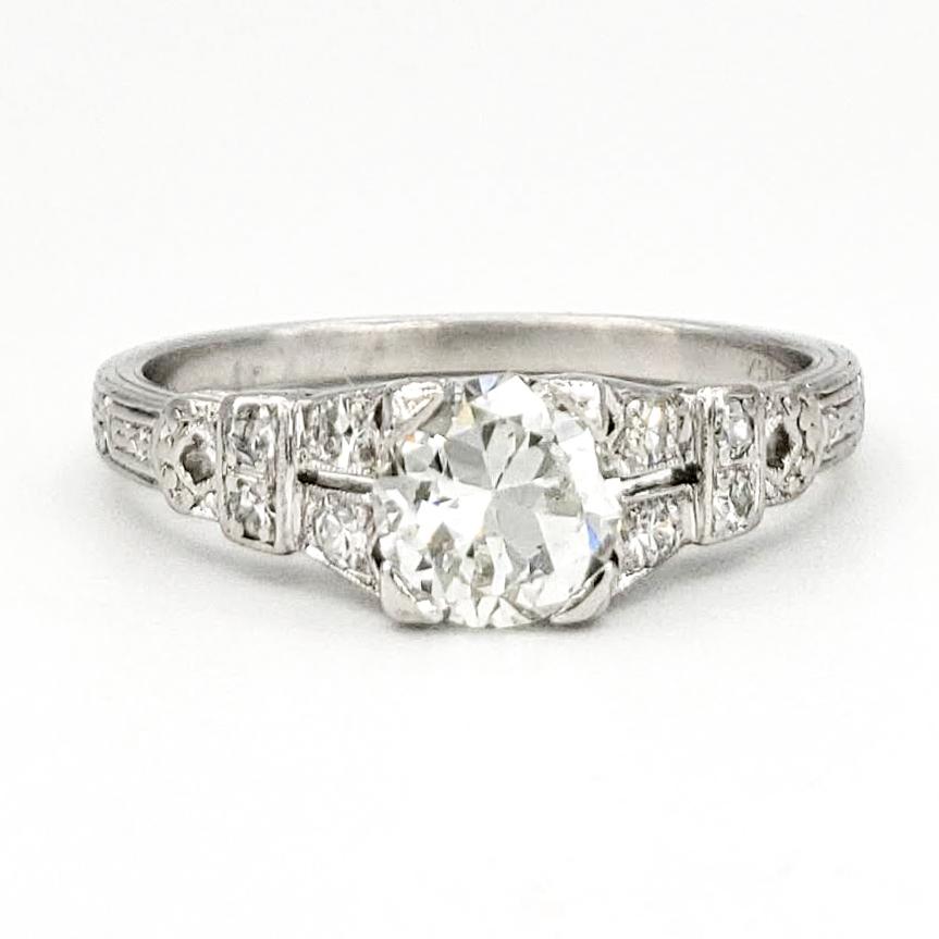vintage-platinum-engagement-ring-with-0-67-carat-transitional-cut-diamond-gia-i-vs2