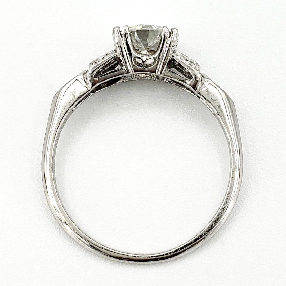 vintage-platinum-engagement-ring-with-1-22-carat-old-european-cut-diamond-gia-h-si1