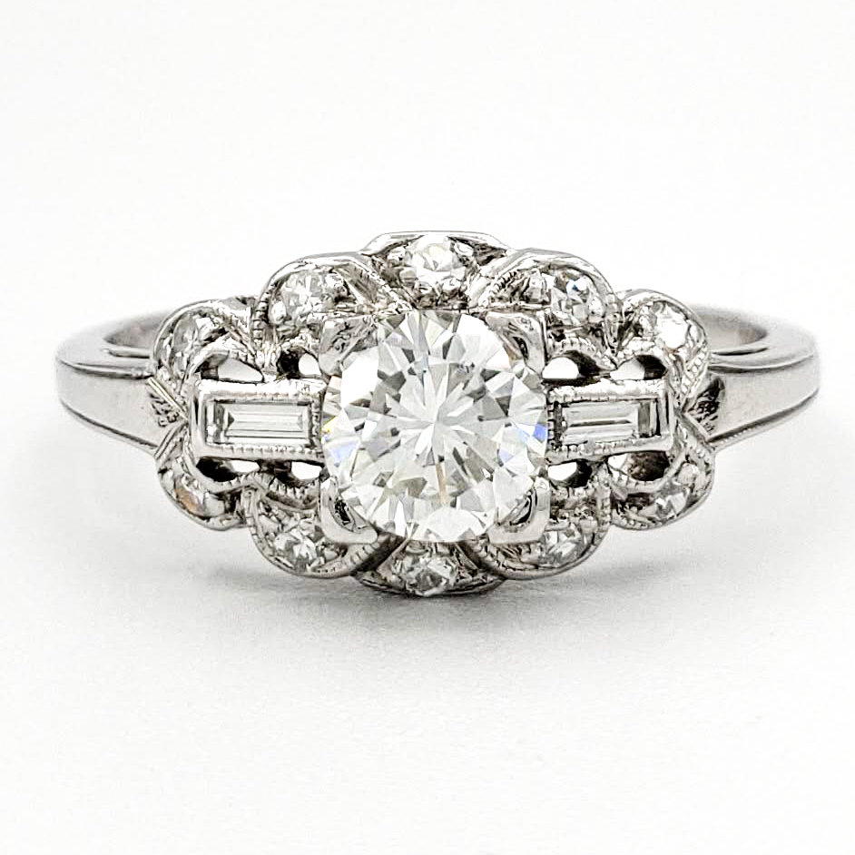 ntage-platinum-engagement-ring-with-0-50-carat-round-brilliant-cut-diamond-gia-h-si1