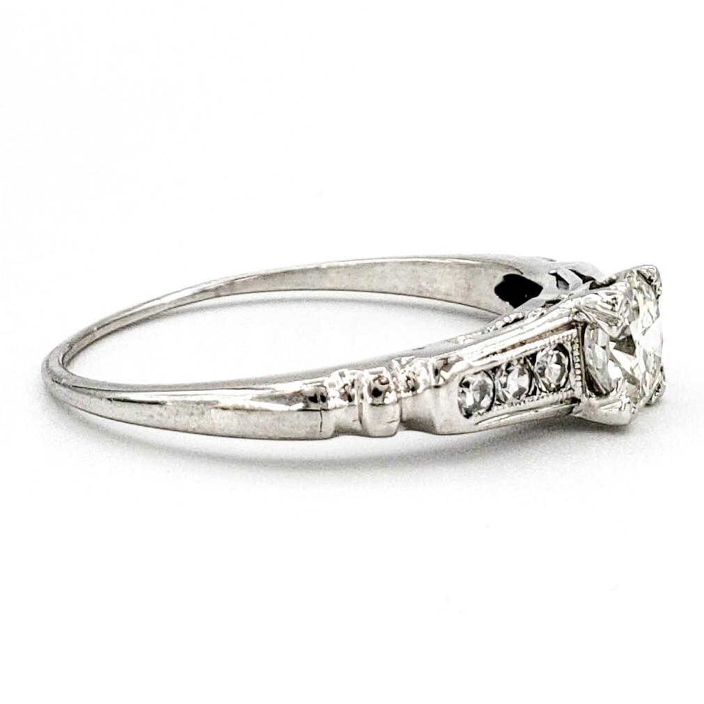 vintage-platinum-engagement-ring-with-0-46-carat-old-european-cut-diamond-egl-h-vs1