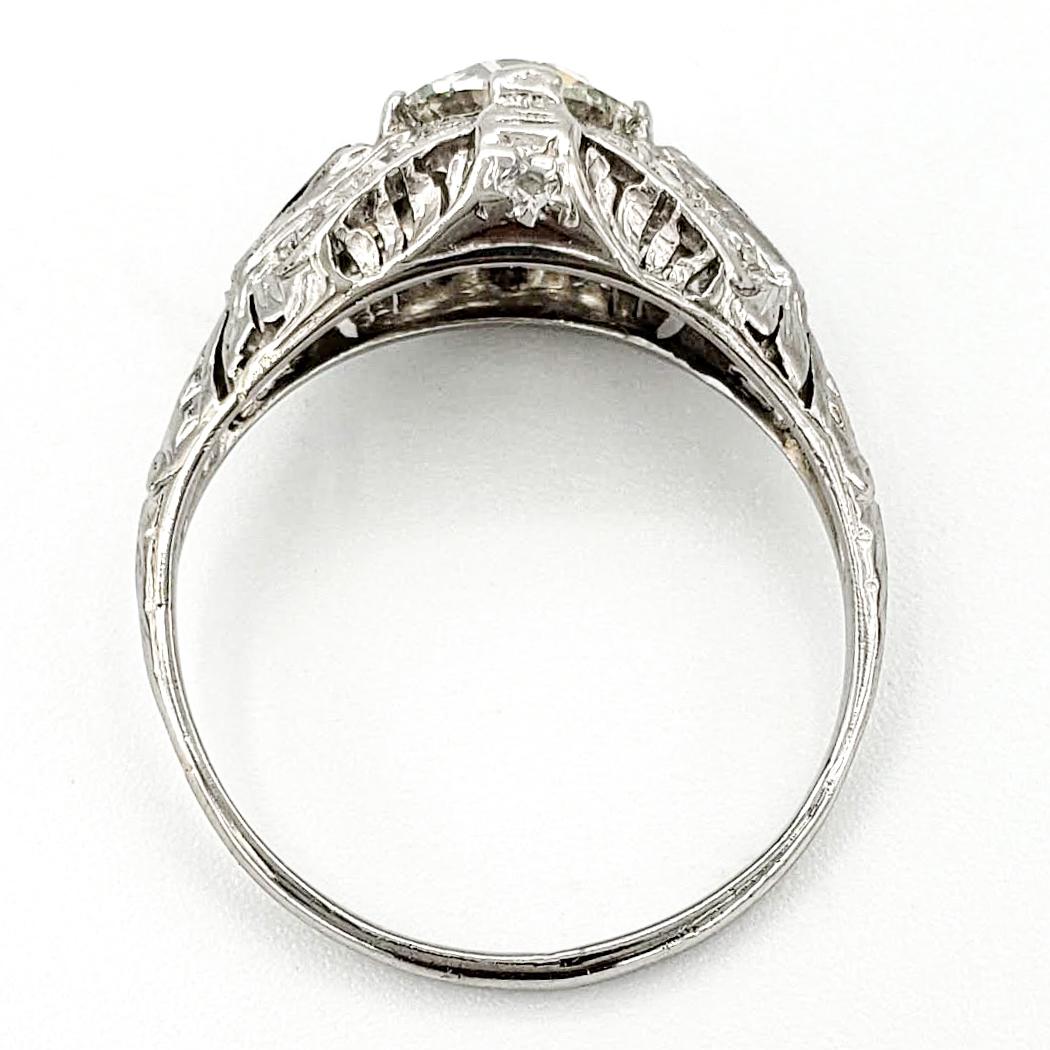 vintage-platinum-engagement-ring-with-1-03-carat-old-european-cut-diamond-egl-g-si1