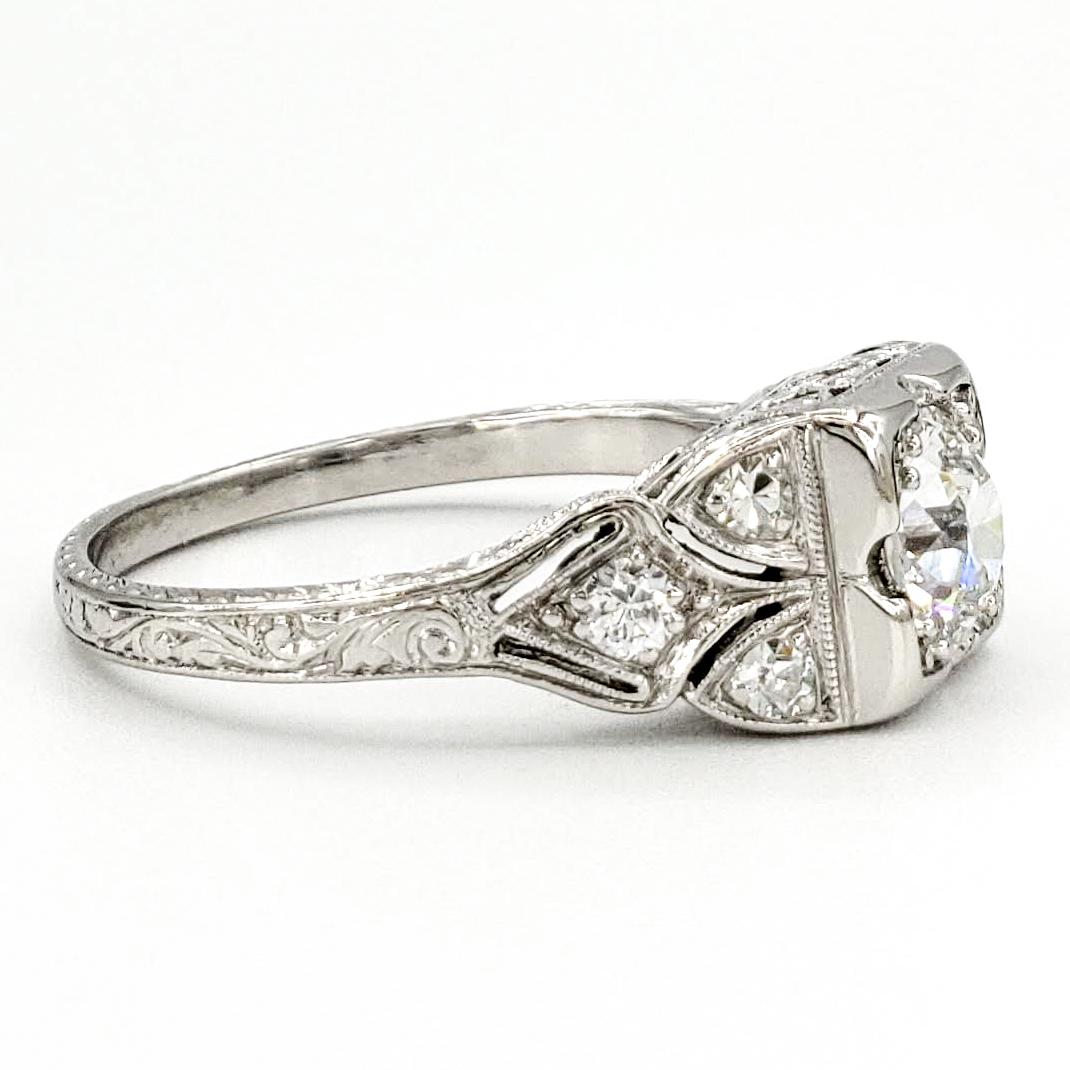 vintage-platinum-engagement-ring-with-0-64-carat-old-european-cut-diamond-gia-g-vvs2