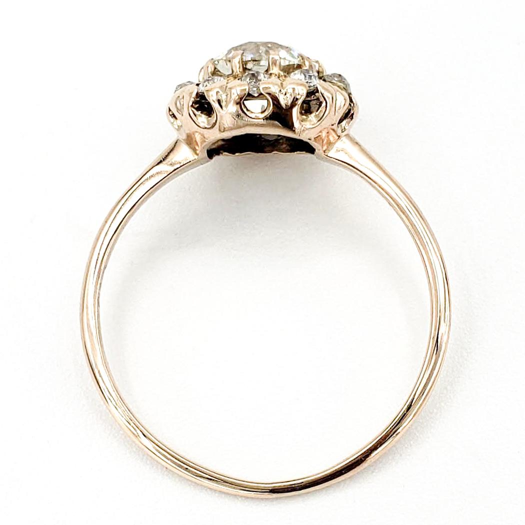 vintage-12-karat-gold-engagement-ring-with-0-93-carat-old-european-cut-diamond-egl-j-si1