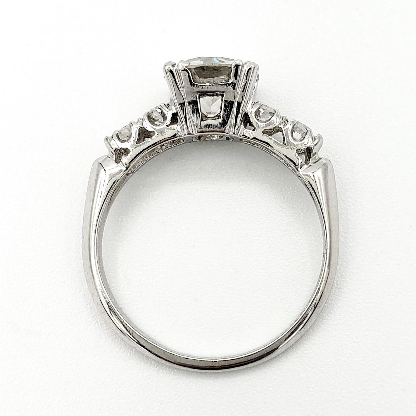 vintage-platinum-engagement-ring-with-1-29-carat-old-european-cut-diamond-egl-i-si1
