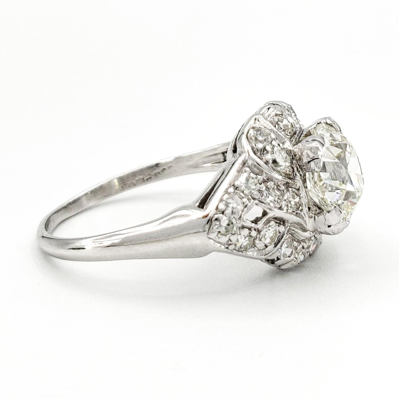vintage-platinum-engagement-ring-with-1-30-carat-old-european-cut-diamond-egl-k-vs1