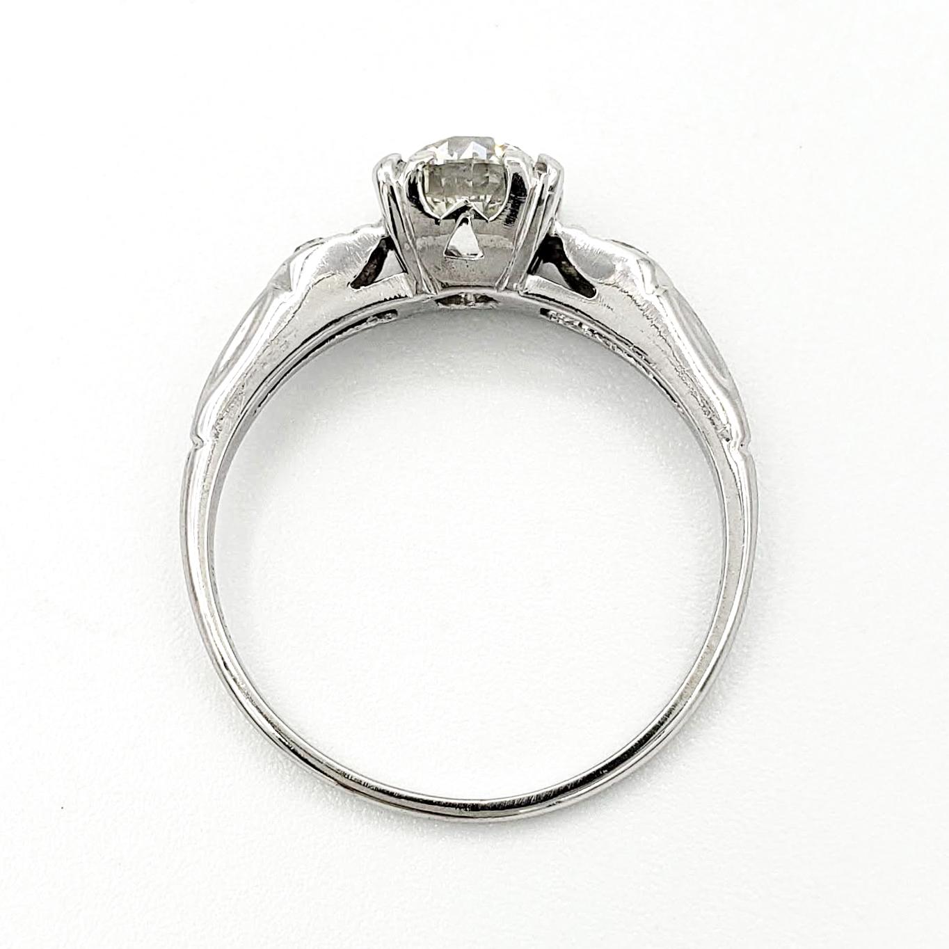 vintage-platinum-engagement-ring-with-0-83-carat-old-european-cut-diamond-egl-h-vs2