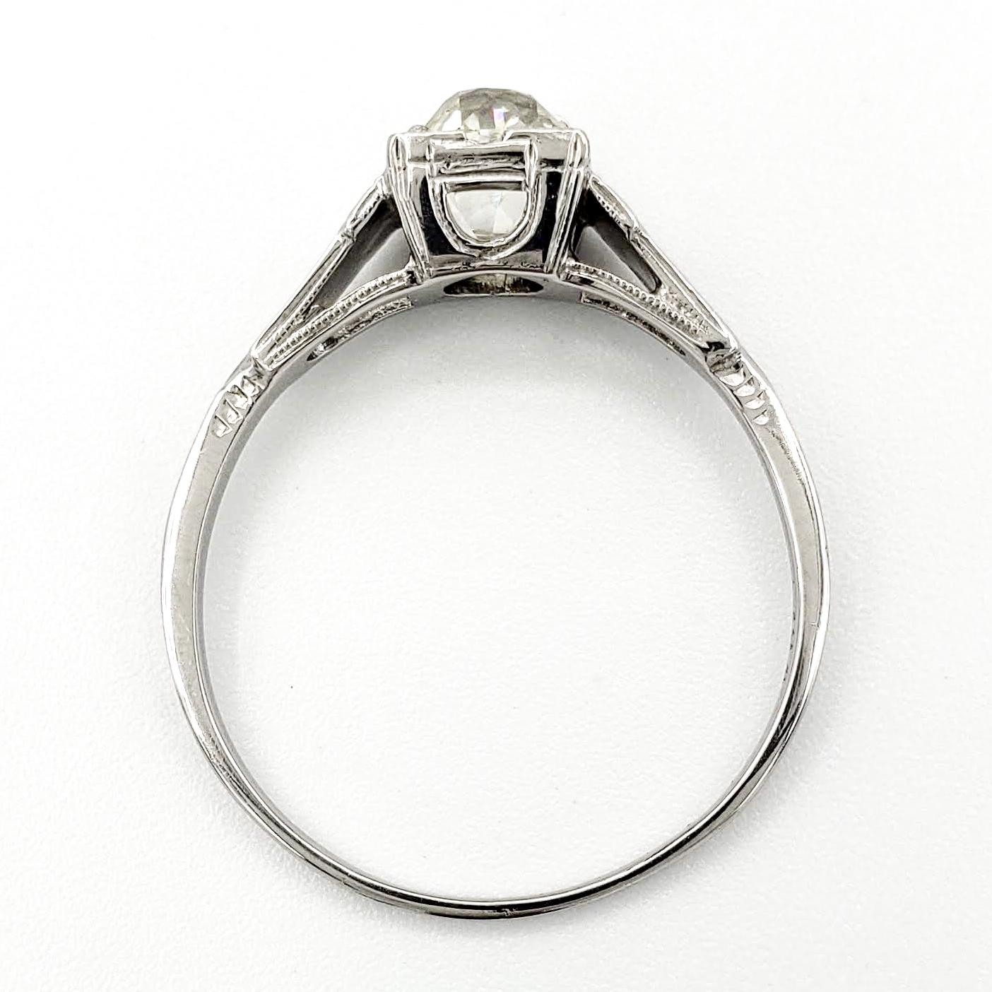 vintage-18-karat-gold-engagement-ring-with-1-00-carat-old-mine-cut-diamond-egl-k-vs2