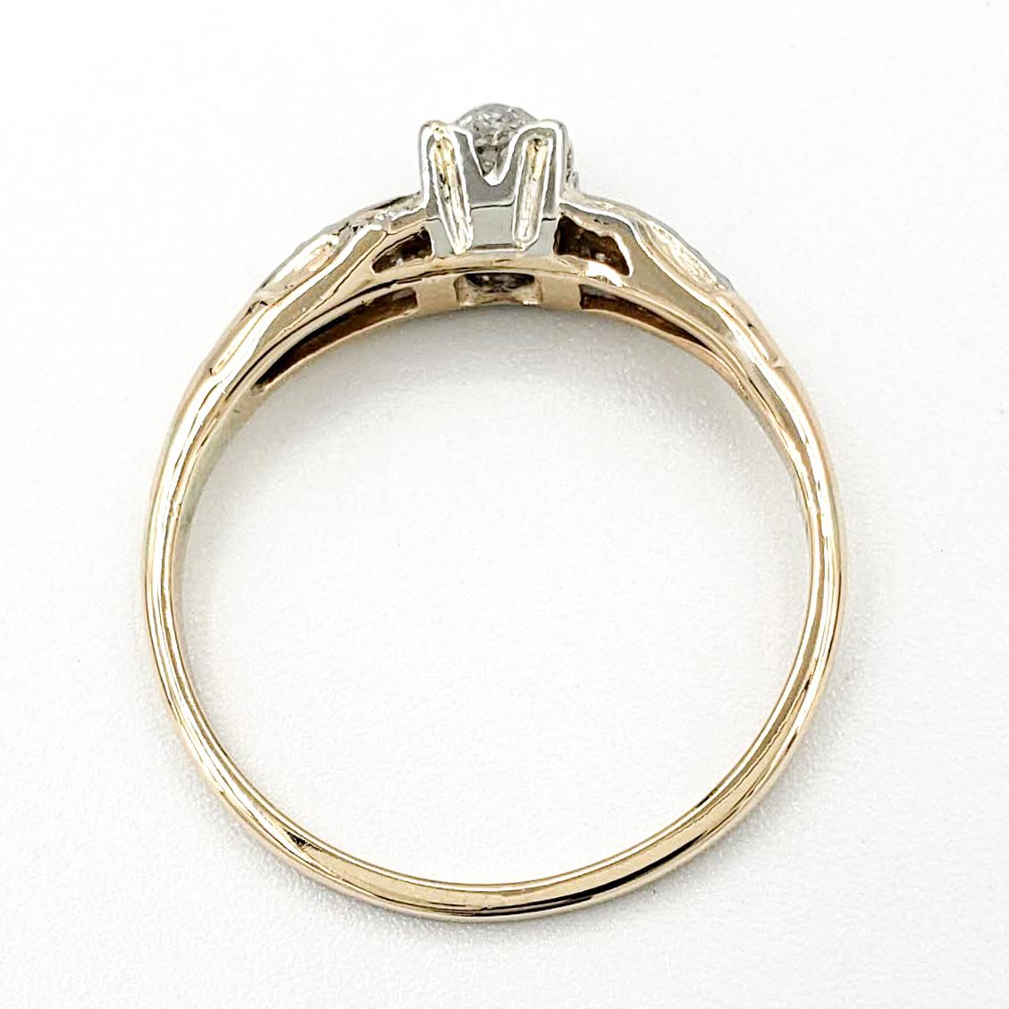 vintage-14-karat-gold-engagement-ring-with-0-40-carat-old-mine-cut-diamond-egl-g-si1