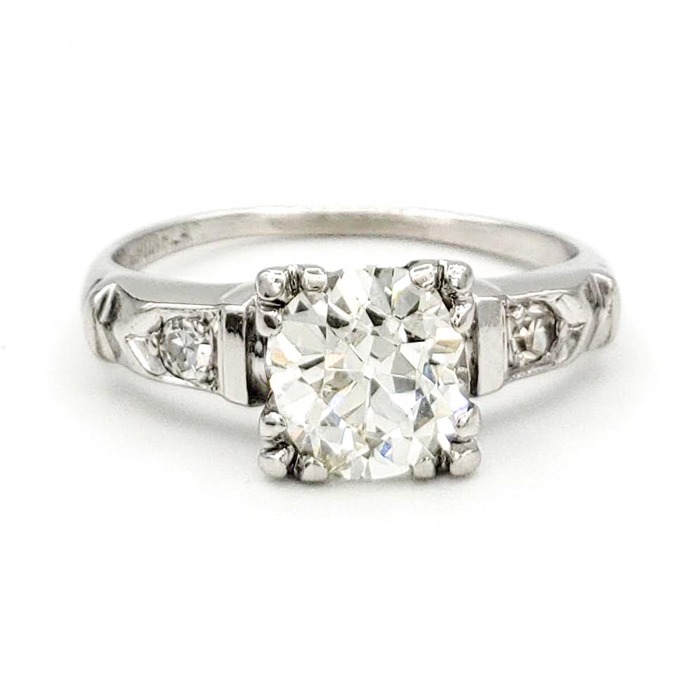 vintage-platinum-engagement-ring-with-0-98-carat-old-european-cut-diamond-egl-k-si1