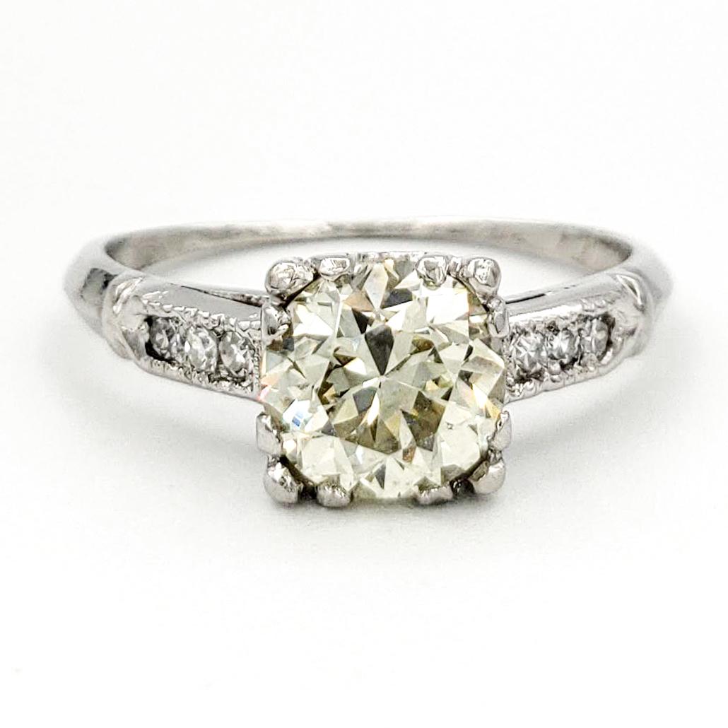 vintage-platinum-engagement-ring-with-0-98-carat-old-european-cut-diamond-egl-o-p-vs1