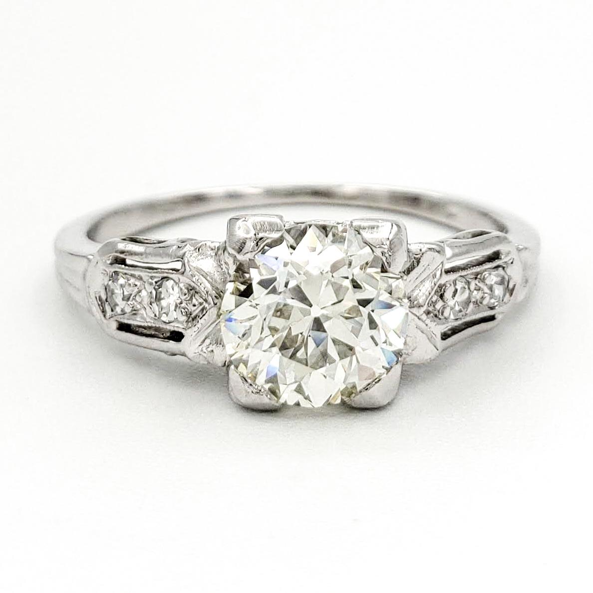 vintage-platinum-engagement-ring-with-1-12-carat-old-european-cut-diamond-egl-l-si1