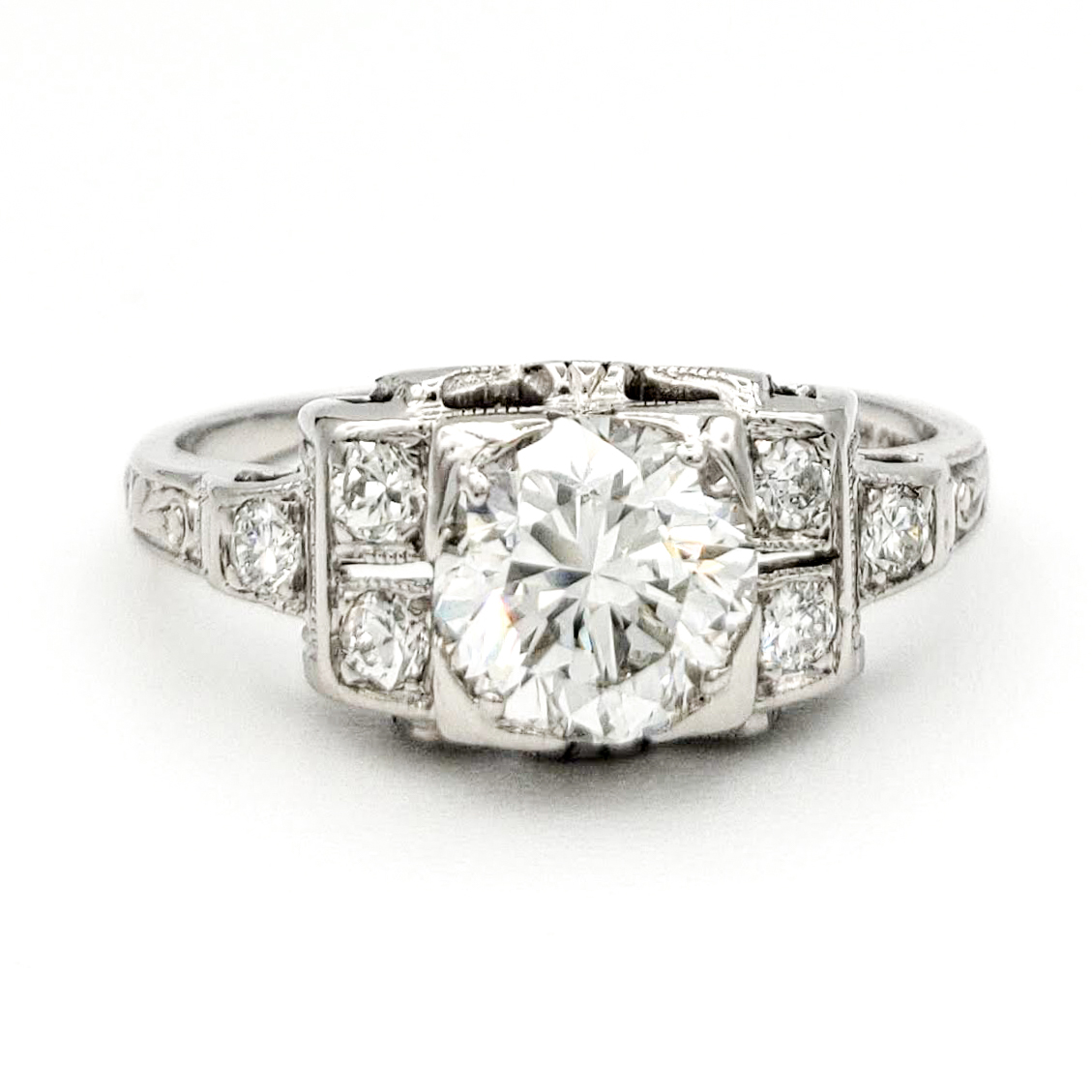 vintage-platinum-engagement-ring-with-0-74-carat-old-european-cut-diamond-egl-h-vs1
