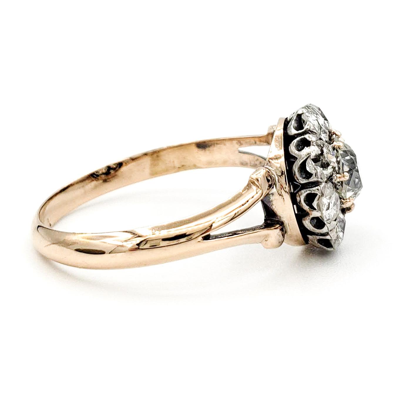 vintage-14-karat-gold-engagement-ring-with-0-61-carat-old-european-cut-diamond-egl-h-si1