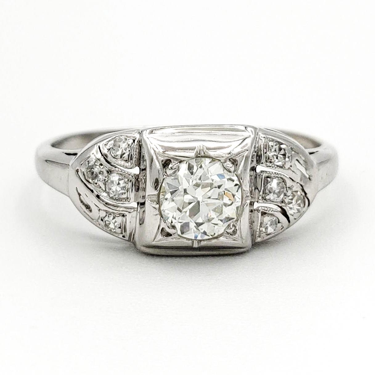 vintage-platinum-engagement-ring-with-0-41-carat-old-european-cut-diamond-egl-i-vs2