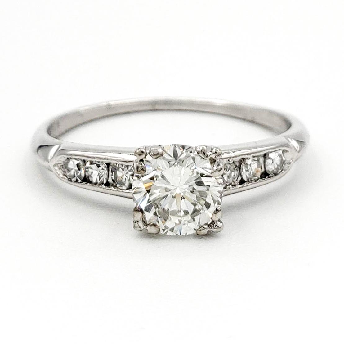 vintage-platinum-engagement-ring-with-0-56-carat-round-brilliant-cut-diamond-egl-h-vs2