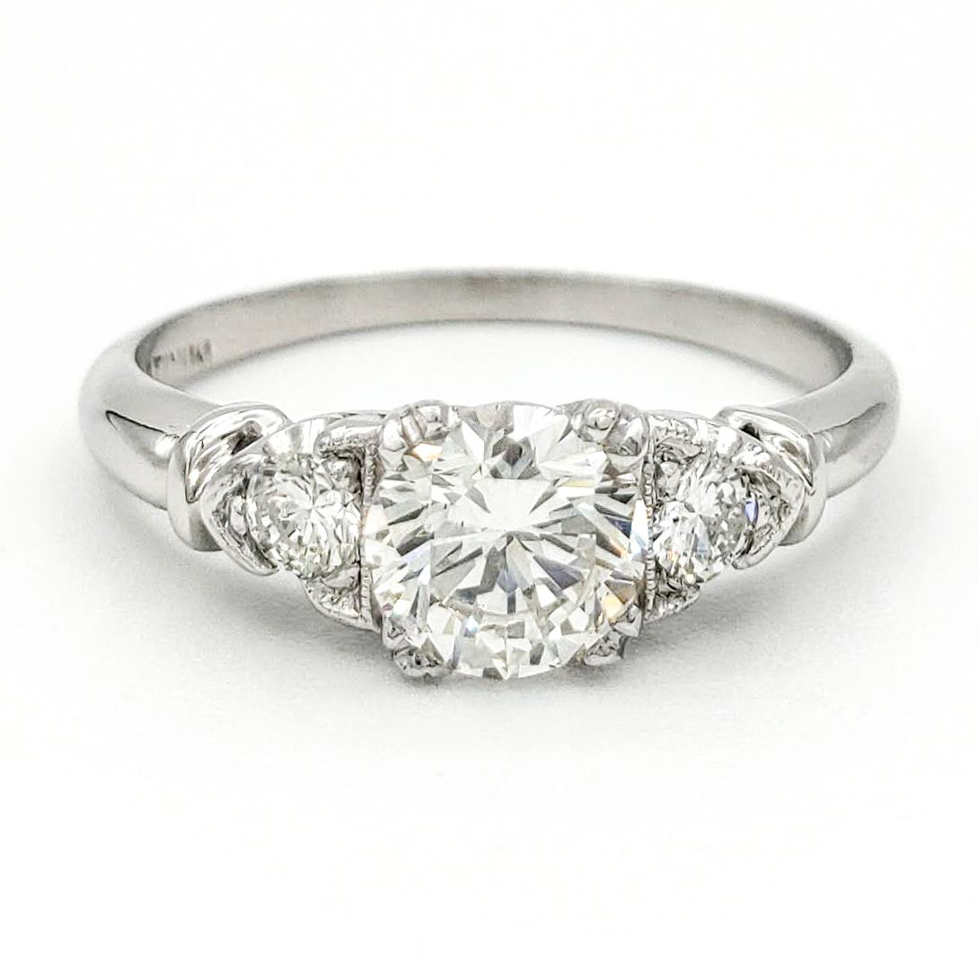 vintage-platinum-engagement-ring-with-0-58-carat-round-brilliant-cut-diamond-egl-h-vs2