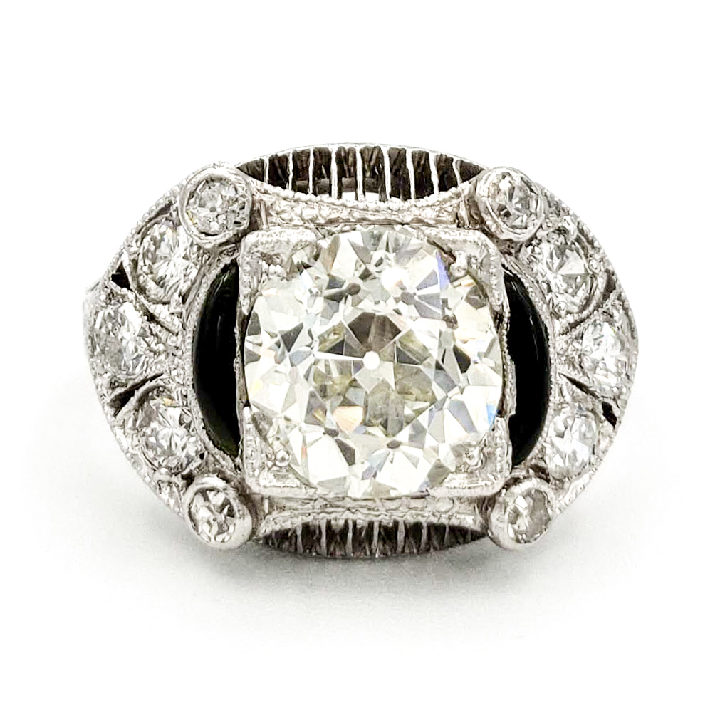 vintage-platinum-engagement-ring-with-1-43-carat-old-european-cut-diamond-egl-l-vs2