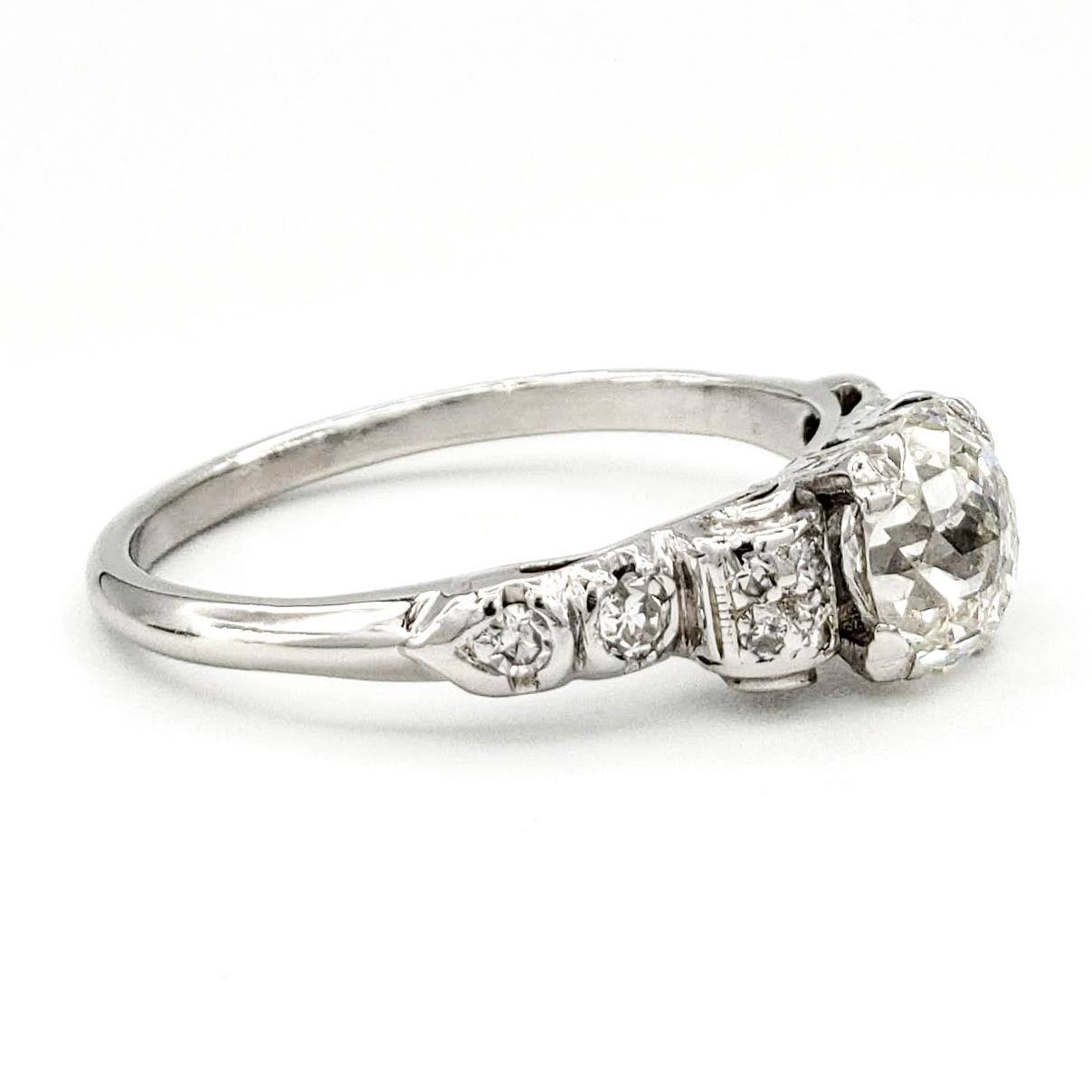 vintage-platinum-engagement-ring-with-1-03-carat-jubilee-cut-diamond-gia-j-si1