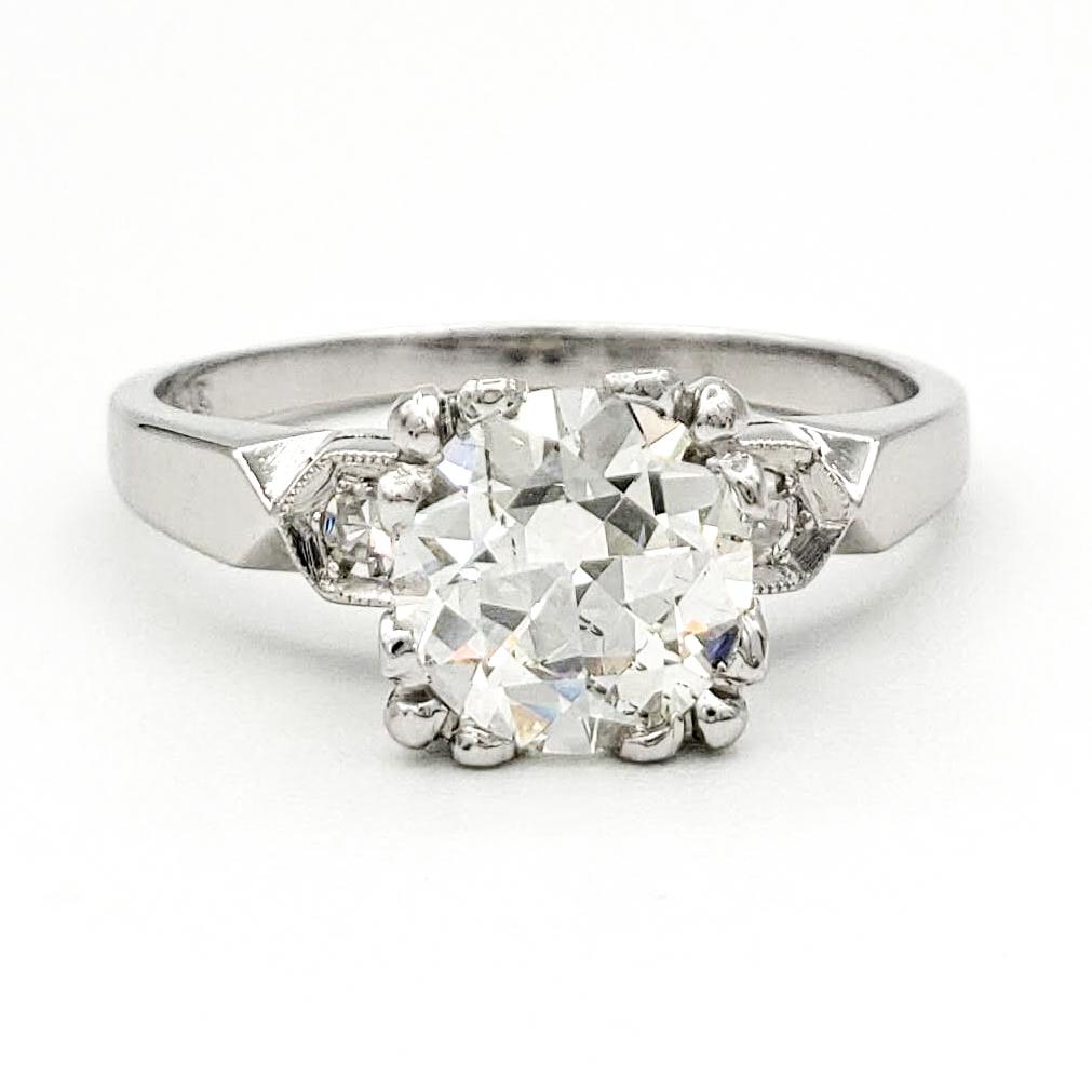 vintage-platinum-engagement-ring-with-1-06-carat-old-european-cut-diamond-egl-h-si1