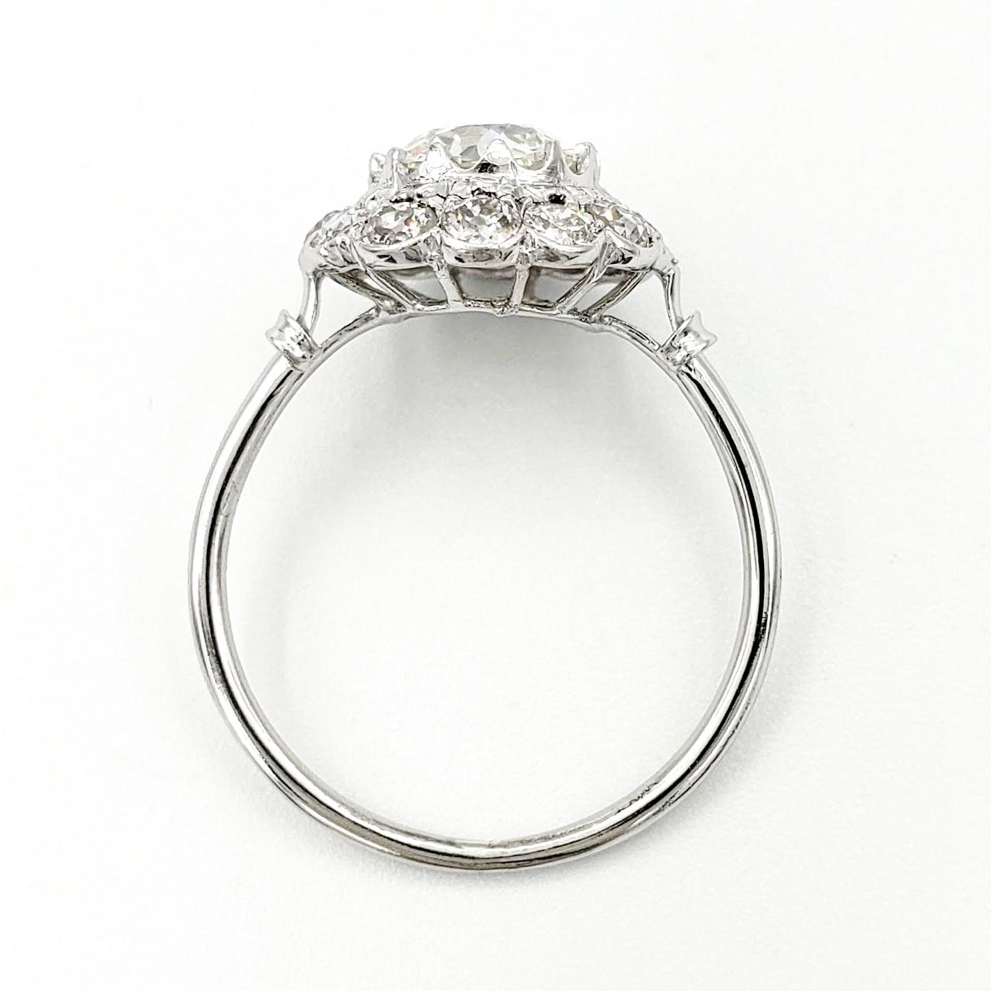 vintage-platinum-engagement-ring-with-1-09-carat-old-european-cut-diamond-egl-h-vs2