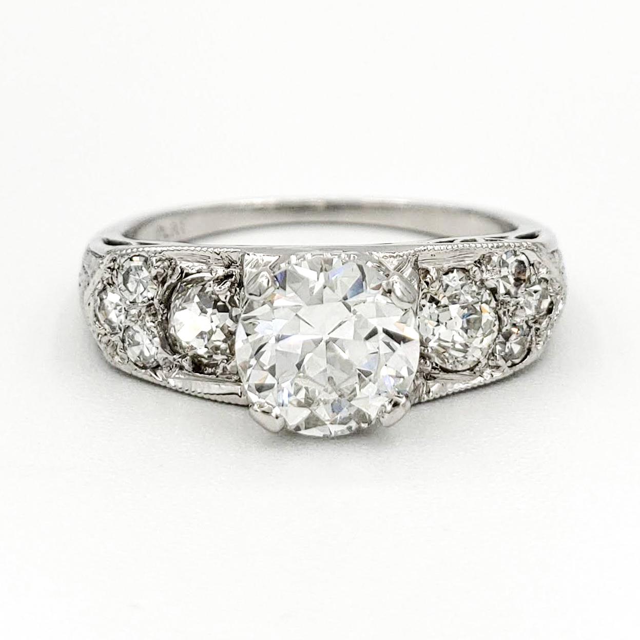 vintage-platinum-engagement-ring-with-0-79-carat-old-european-cut-diamond-egl-f-vs1
