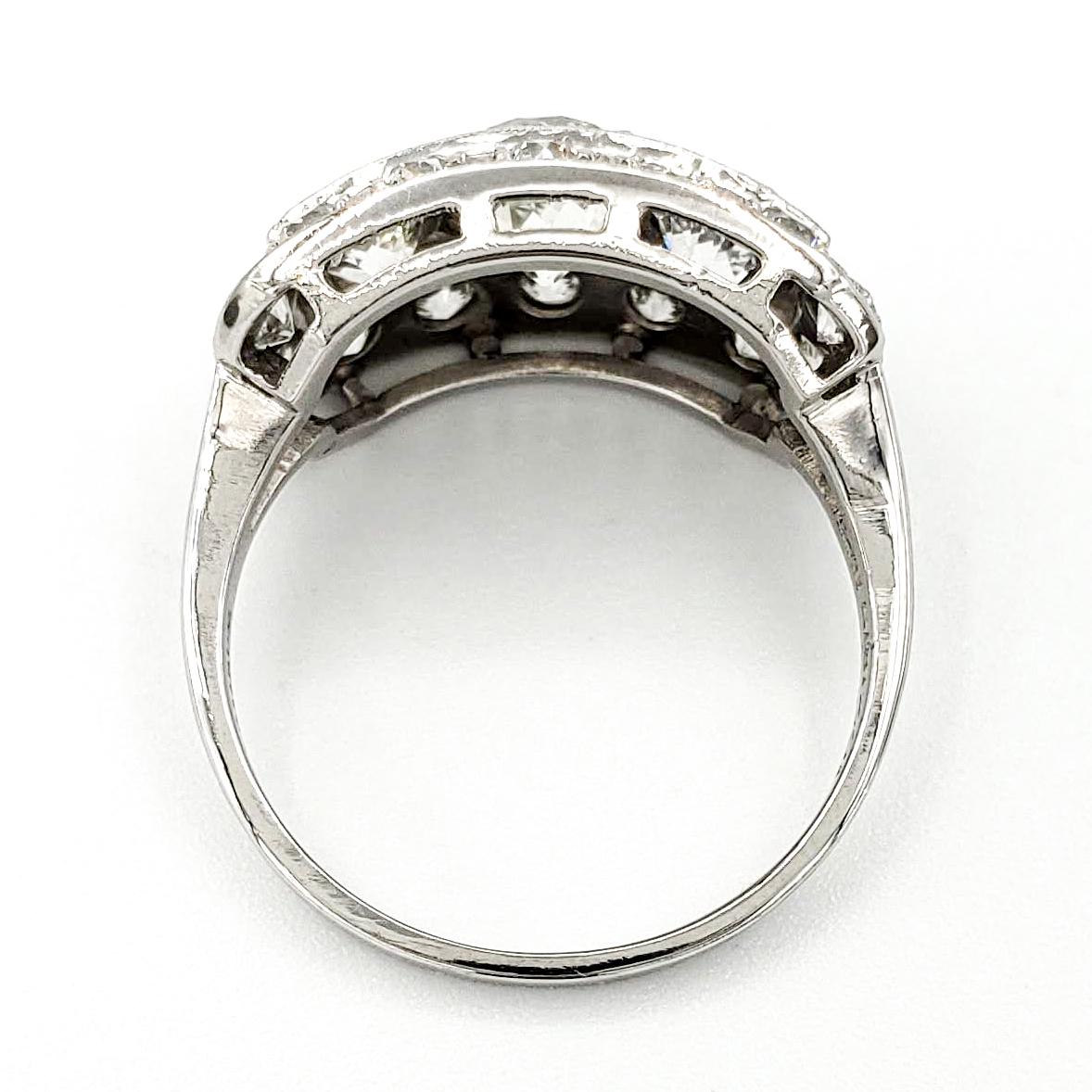 Vintage Platinum Engagement Ring With 1.01 Carat Old European Cut Diamond EGL - K VS1
