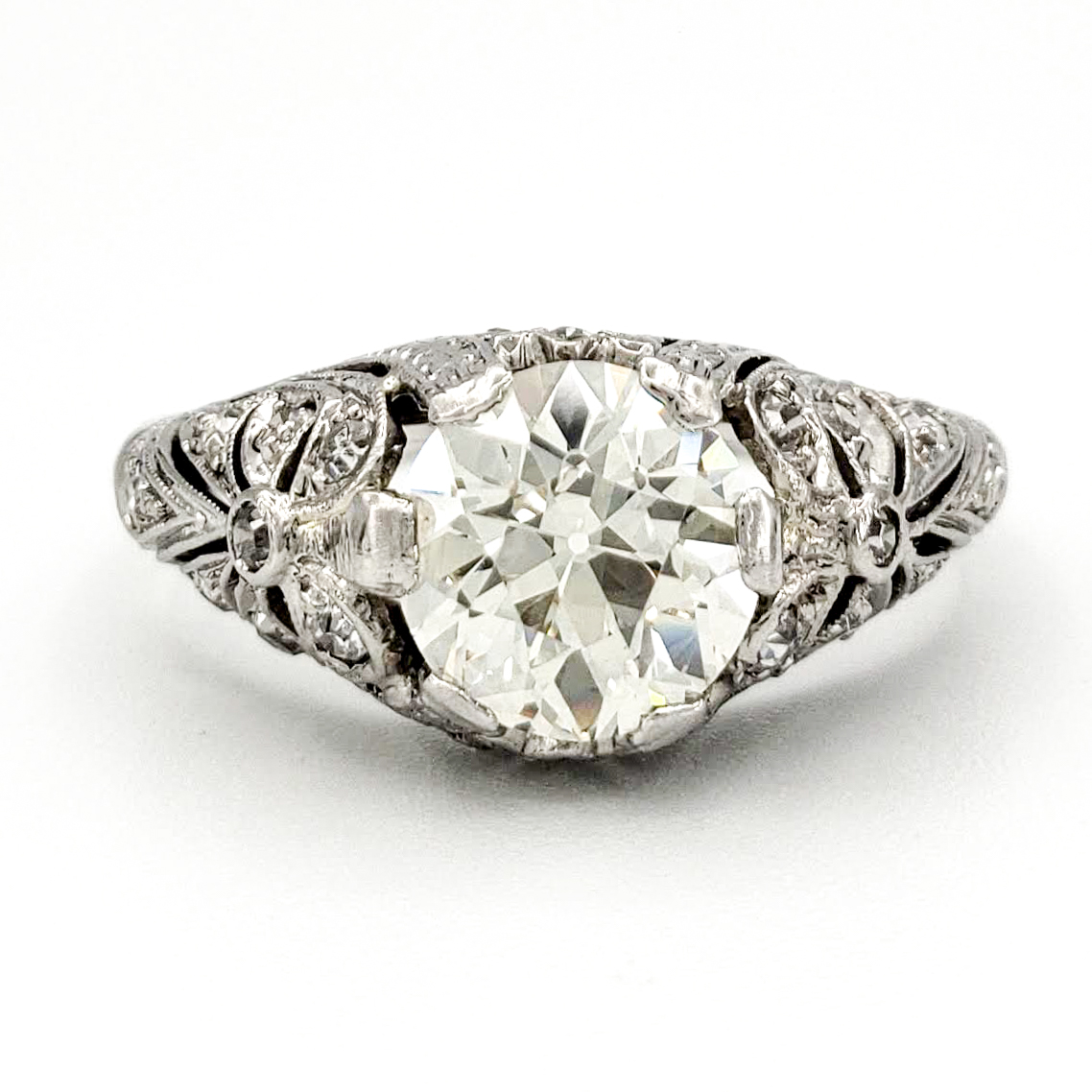vintage-platinum-engagement-ring-with-1-48-carat-old-european-cut-diamond-egl-k-vs1