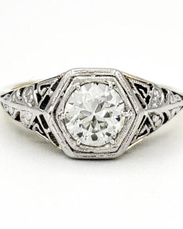 vintage-14-karat-gold-engagement-ring-with-0-45-carat-old-european-cut-diamond-egl-g-vs2