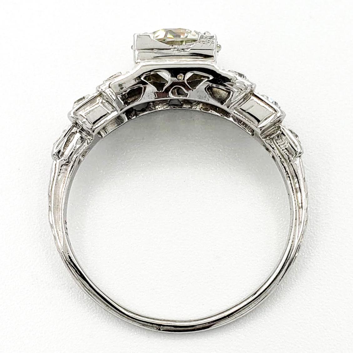 vintage-18-karat-gold-engagement-ring-with-1-00-carat-old-european-cut-diamond-egl-k-si1