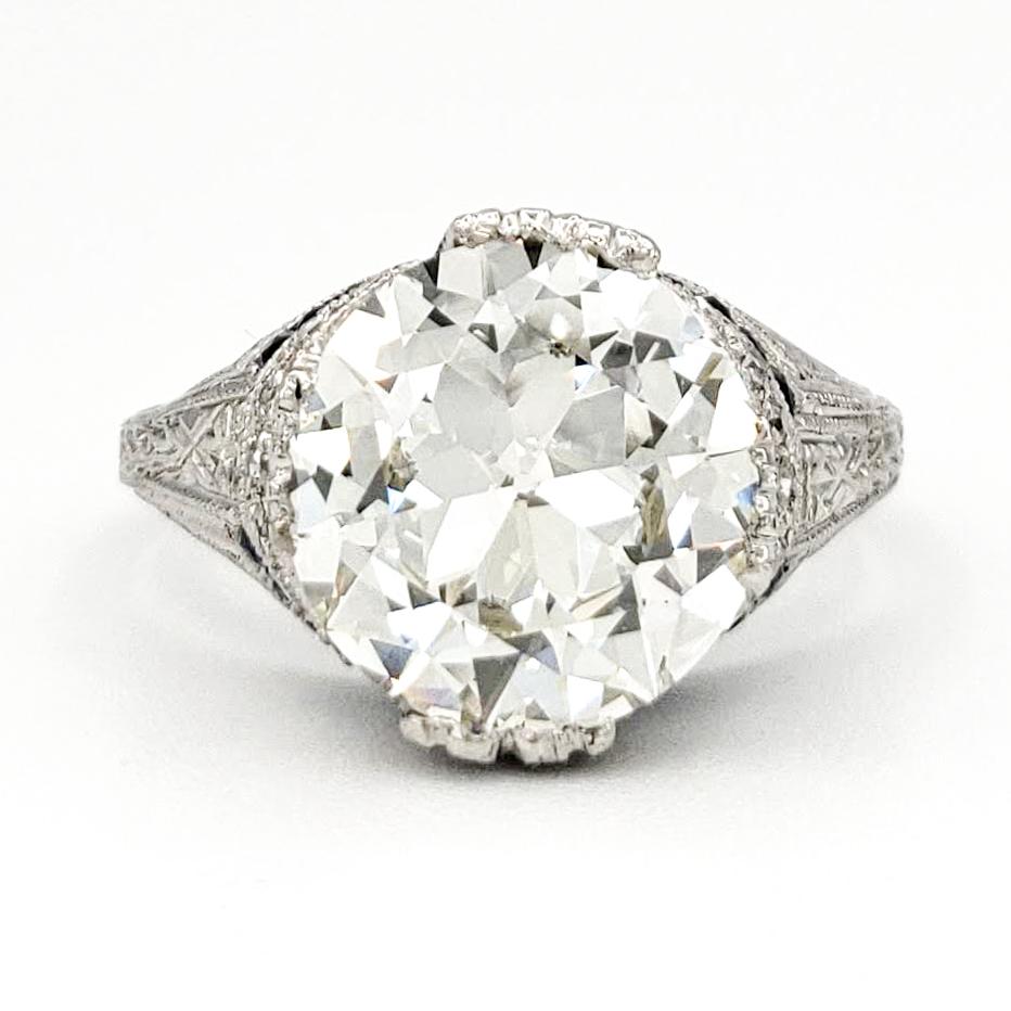 vintage-platinum-engagement-ring-with-2-62-carat-old-european-cut-diamond-gia-l-vvs2