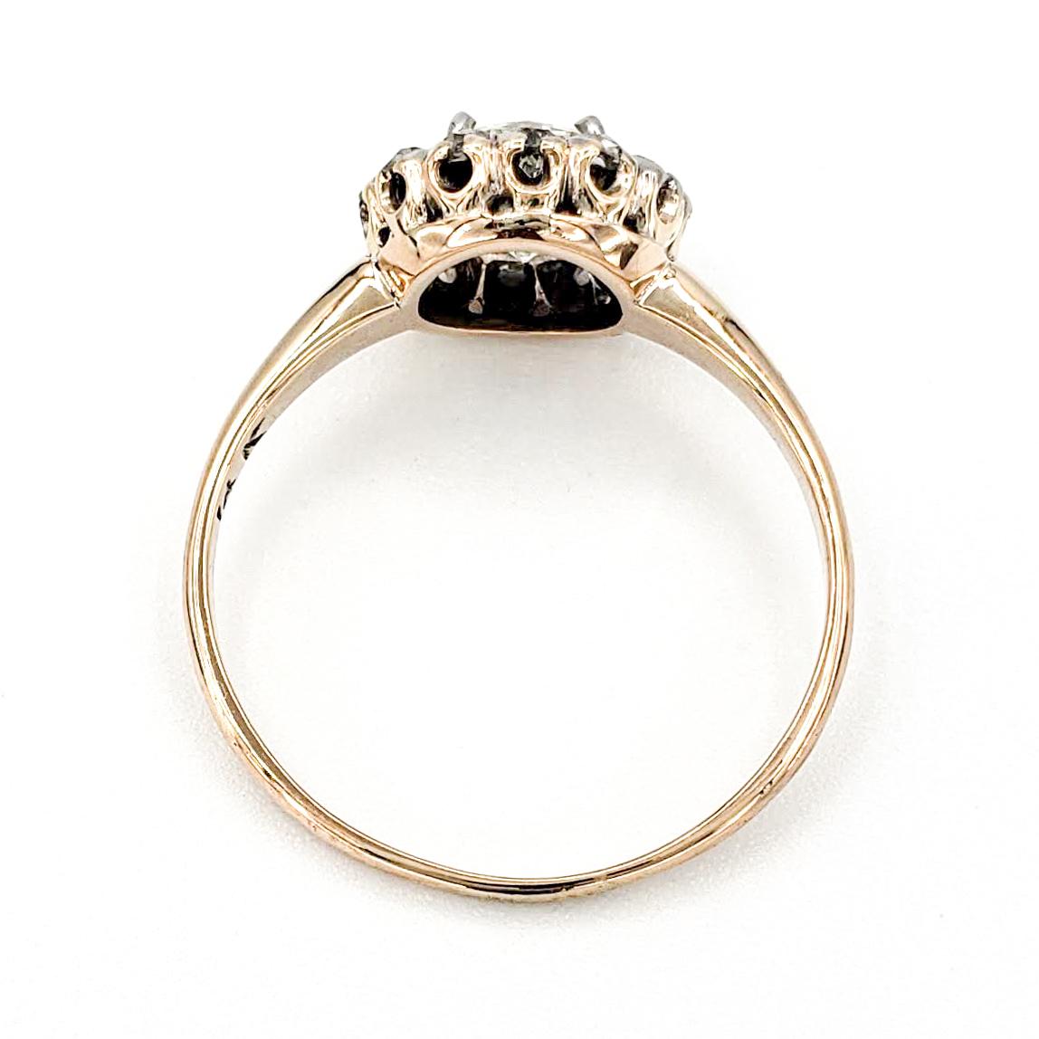vintage-14-karat-gold-engagement-ring-with-0-85-carat-old-european-cut-diamond-egl-m-si1