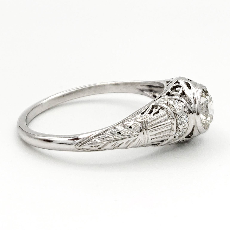 vintage-platinum-engagement-ring-with-0-59-carat-old-european-cut-diamond-egl-h-vs2