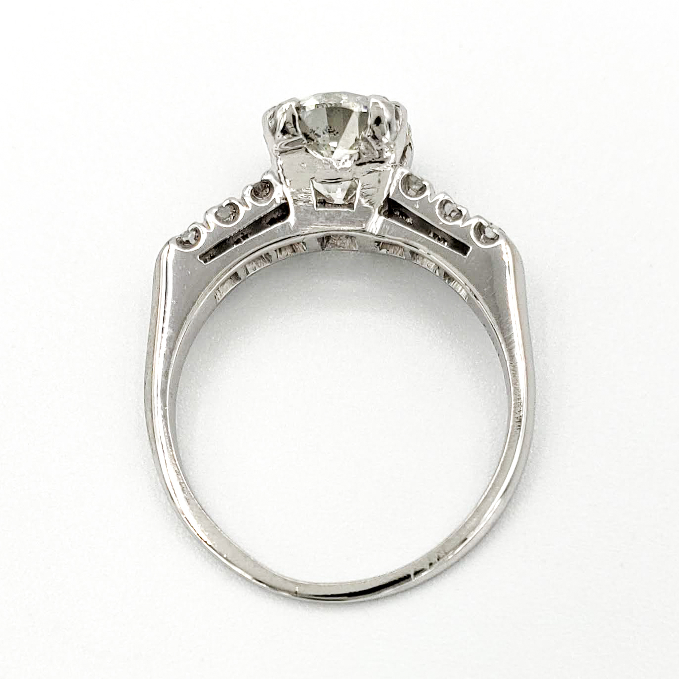 vintage-platinum-engagement-ring-with-1-31-carat-old-european-cut-diamond-egl-j-si2