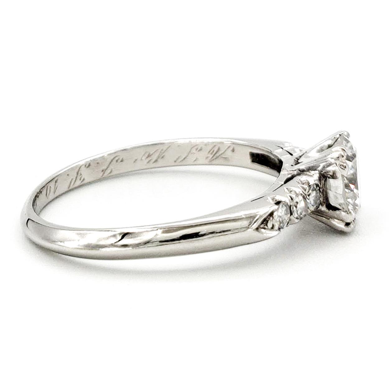 vintage-platinum-engagement-ring-with-0-62-carat-round-brilliant-cut-diamond-egl-e-vs1