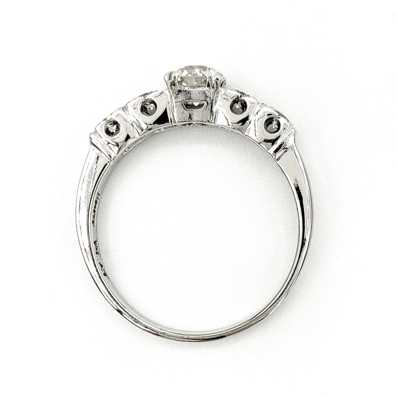 vintage-platinum-engagement-ring-with-0-52-carat-old-european-cut-diamond-egl-h-vs1