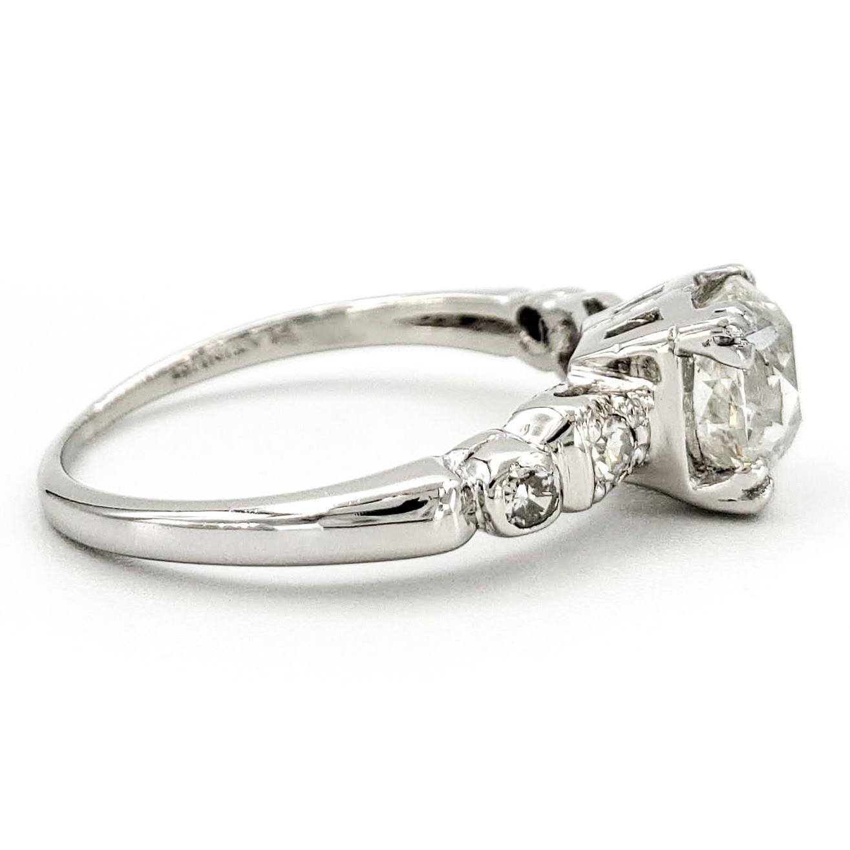 vintage-platinum-engagement-ring-with-1-27-carat-old-european-cut-diamond-egl-h-si1