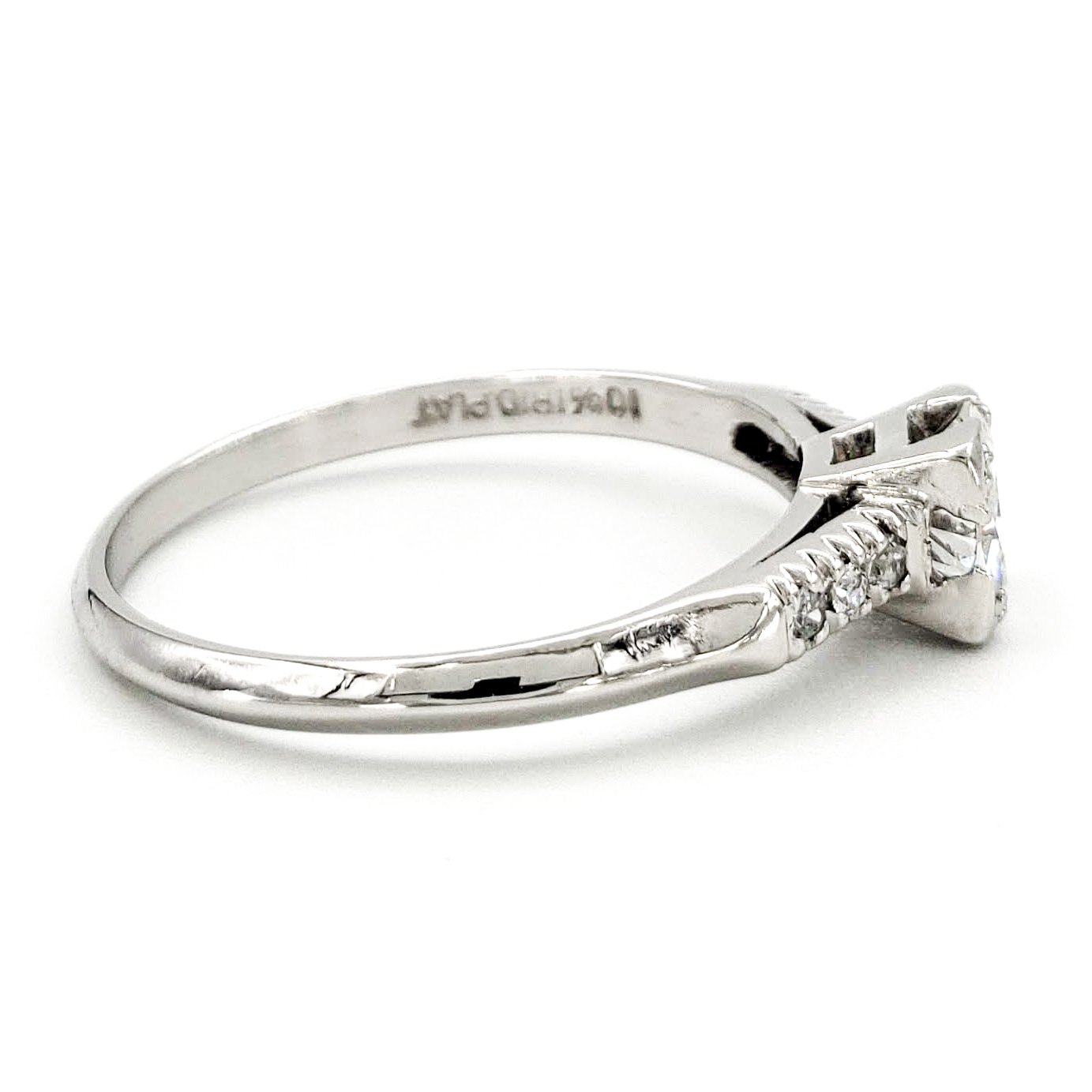 vintage-platinum-engagement-ring-with-0-43-carat-old-european-cut-diamond-egl-e-vs1