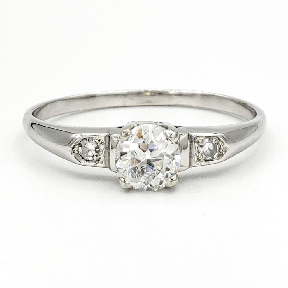 vintage-platinum-engagement-ring-with-0-46-carat-old-european-cut-diamond-egl-d-vs2