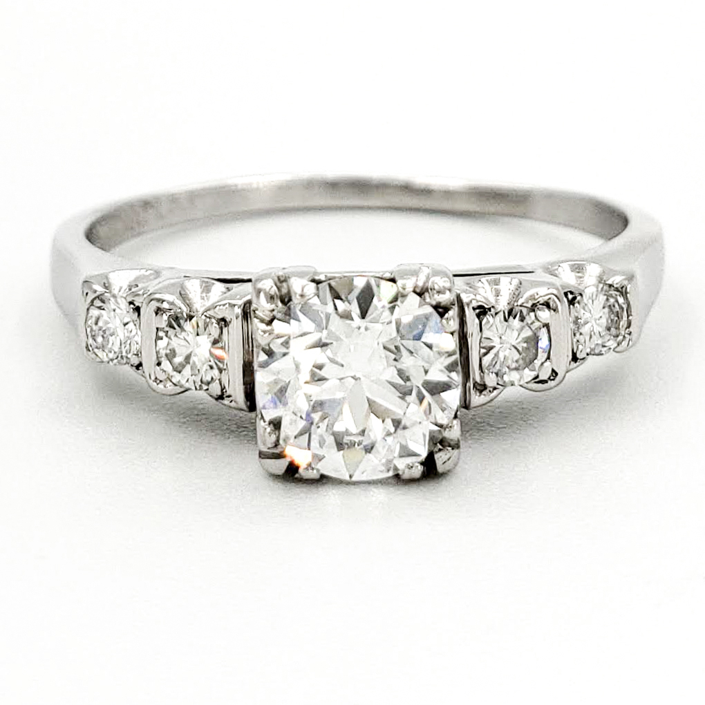 vintage-platinum-engagement-ring-with-0-52-carat-old-european-cut-diamond-egl-e-vs1