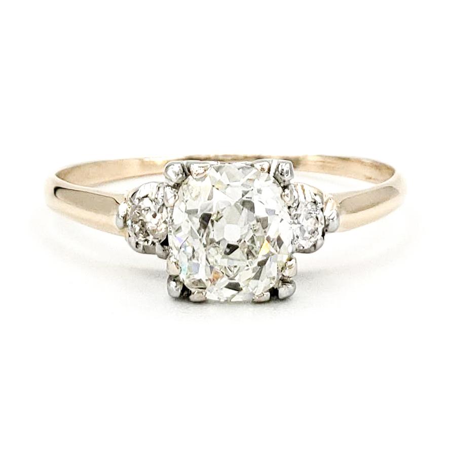 vintage-14-karat-gold-engagement-ring-with-0-91-carat-old-european-cut-diamond-egl-h-vs1