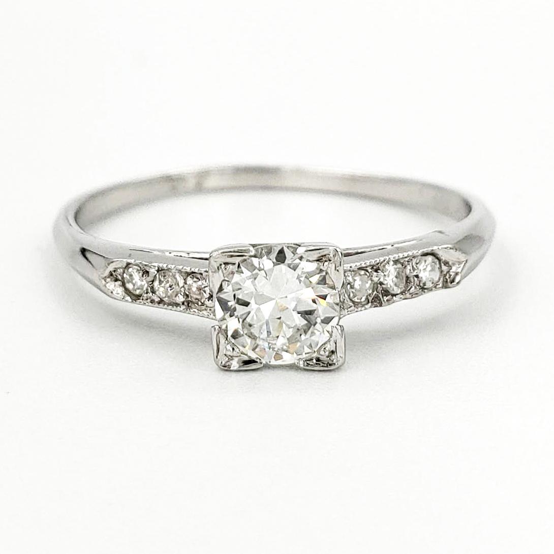 vintage-platinum-engagement-ring-with-0-34-carat-transitional-cut-diamond-egl-d-vs1