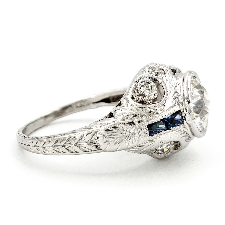 vintage-platinum-engagement-ring-with-1-16-carat-old-european-cut-diamond-egl-i-vs1