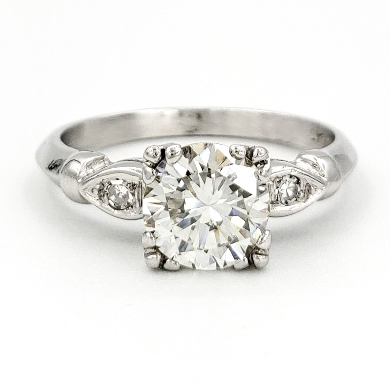 vintage-platinum-engagement-ring-with-1-22-carat-round-brilliant-cut-diamond-egl-j-vs1