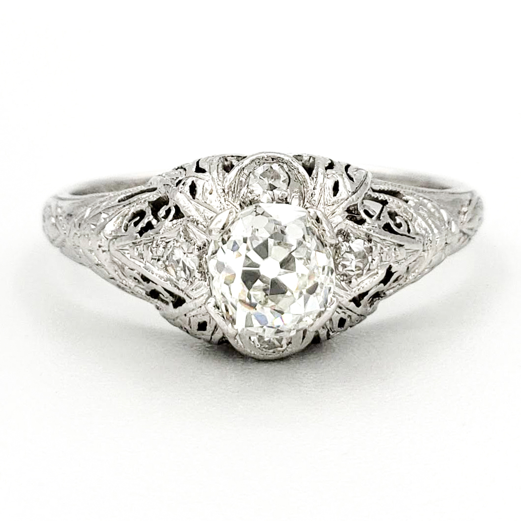 vintage-platinum-engagement-ring-with-0-54-carat-old-european-cut-diamond-egl-g-vs2
