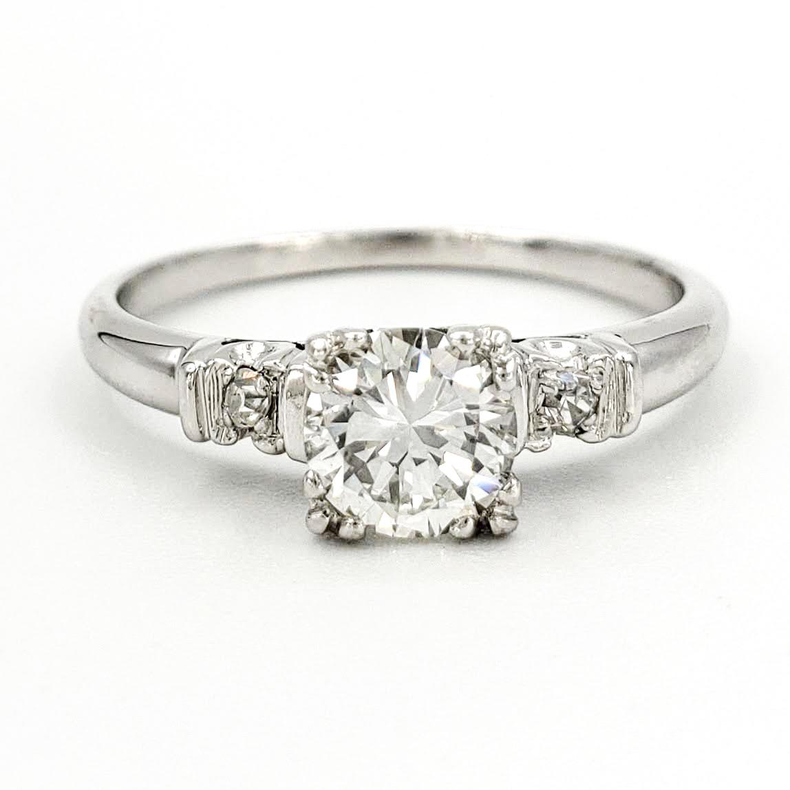 vintage-platinum-engagement-ring-with-0-52-carat-round-brilliant-cut-diamond-egl-g-vs1