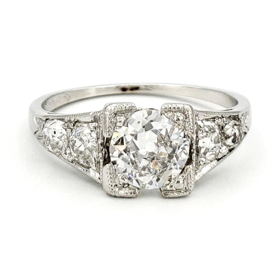 vintage-platinum-engagement-ring-with-0-61-carat-old-european-cut-diamond-egl-e-si1