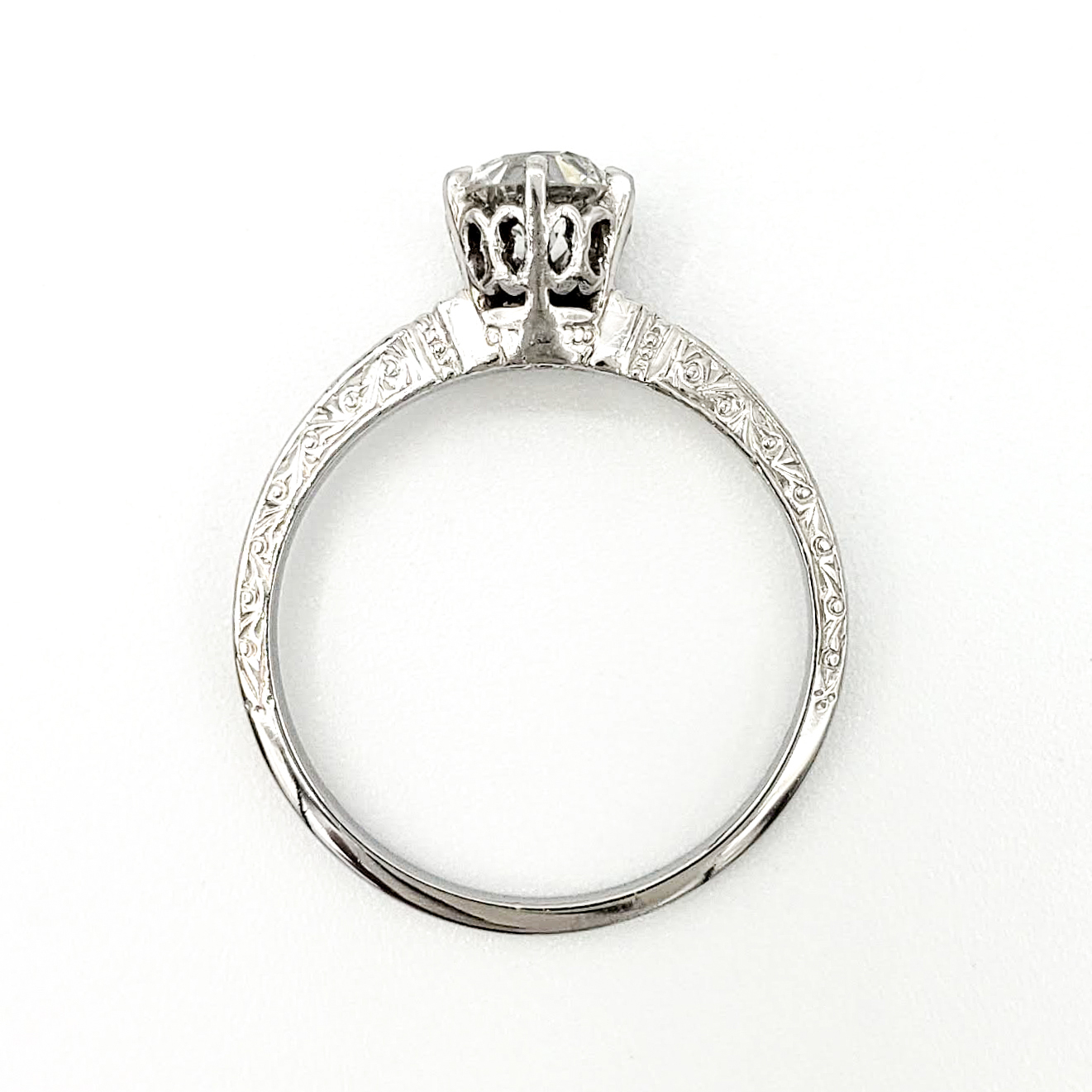 vintage-platinum-engagement-ring-with-0-63-carat-old-european-cut-diamond-egl-e-vs1